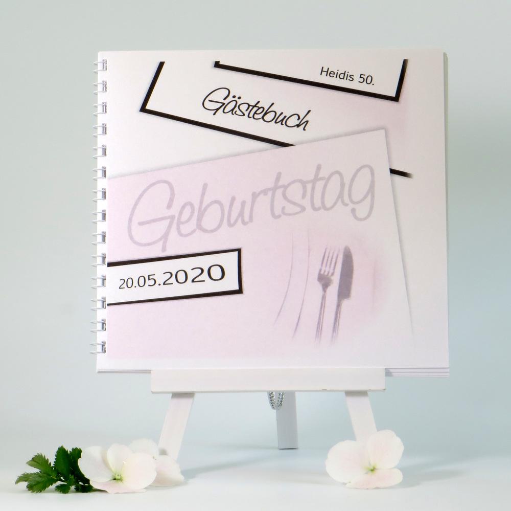Geburtstagsgästebuch, für alle die Rosa lieben und an Ihrem Geburtstag in dieser Farbe dekorieren möchten.