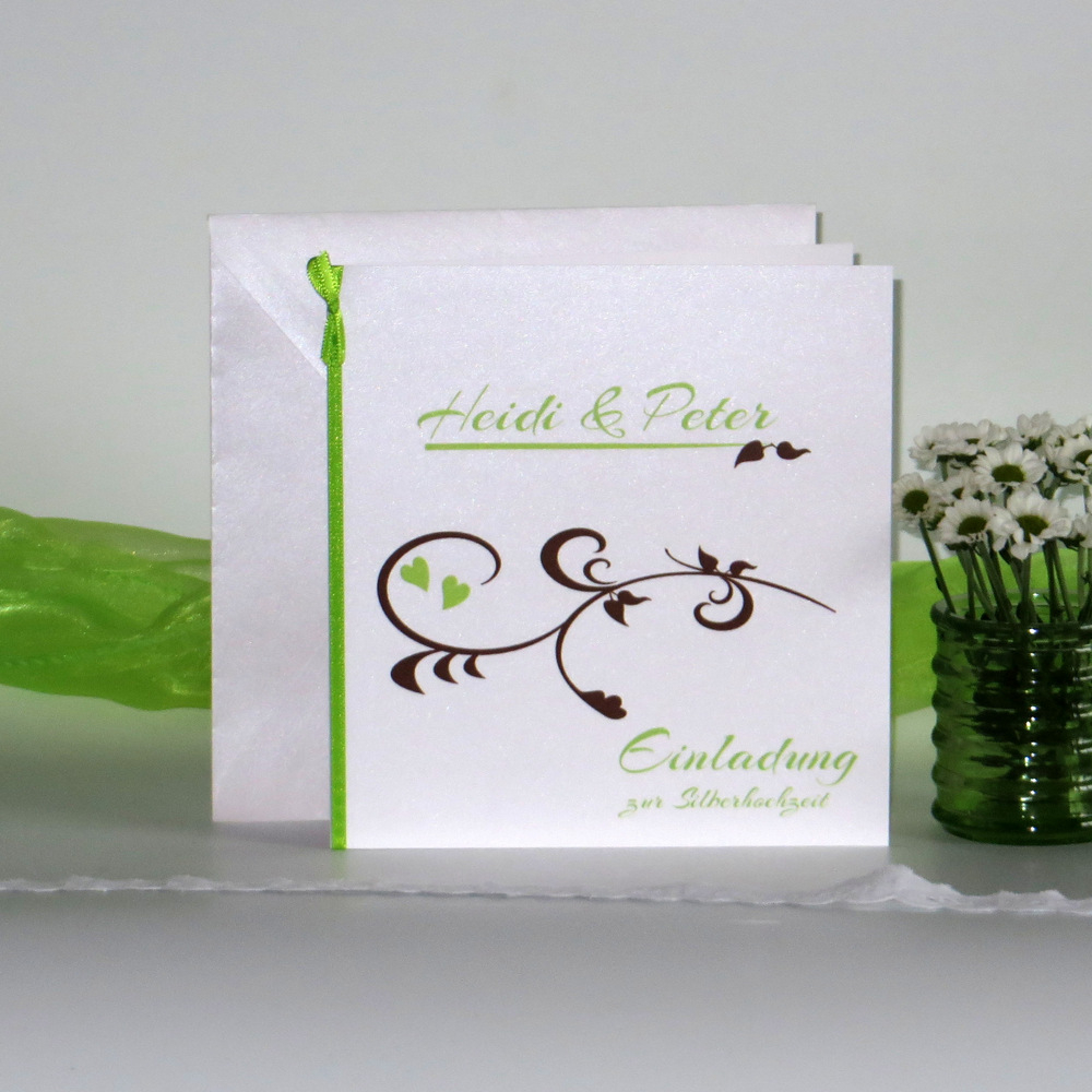 Event grün & braun Silberhochzeit