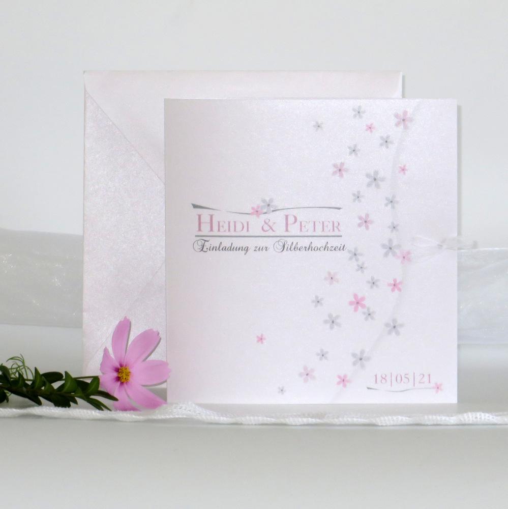 Blumenmeer rosa Silberhochzeit