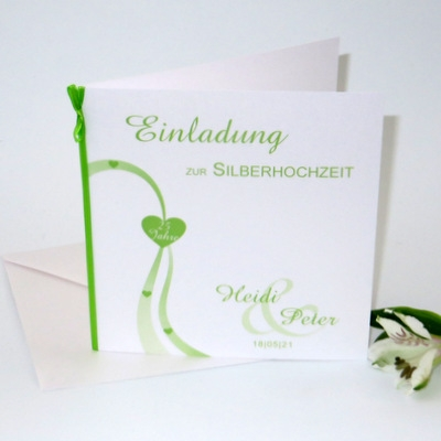 Liebesweg grün Silberhochzeit