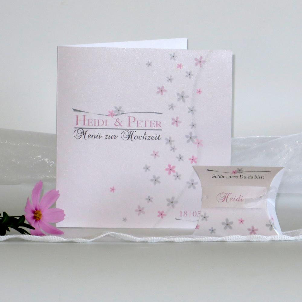 Blumenmeer rosa & grau