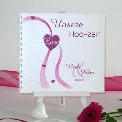 """Gästebuch """"Liebesweg"""" pink"""