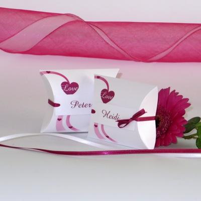 """Gastgeschenk + Tischkarte """"Liebesweg"""" pink"""