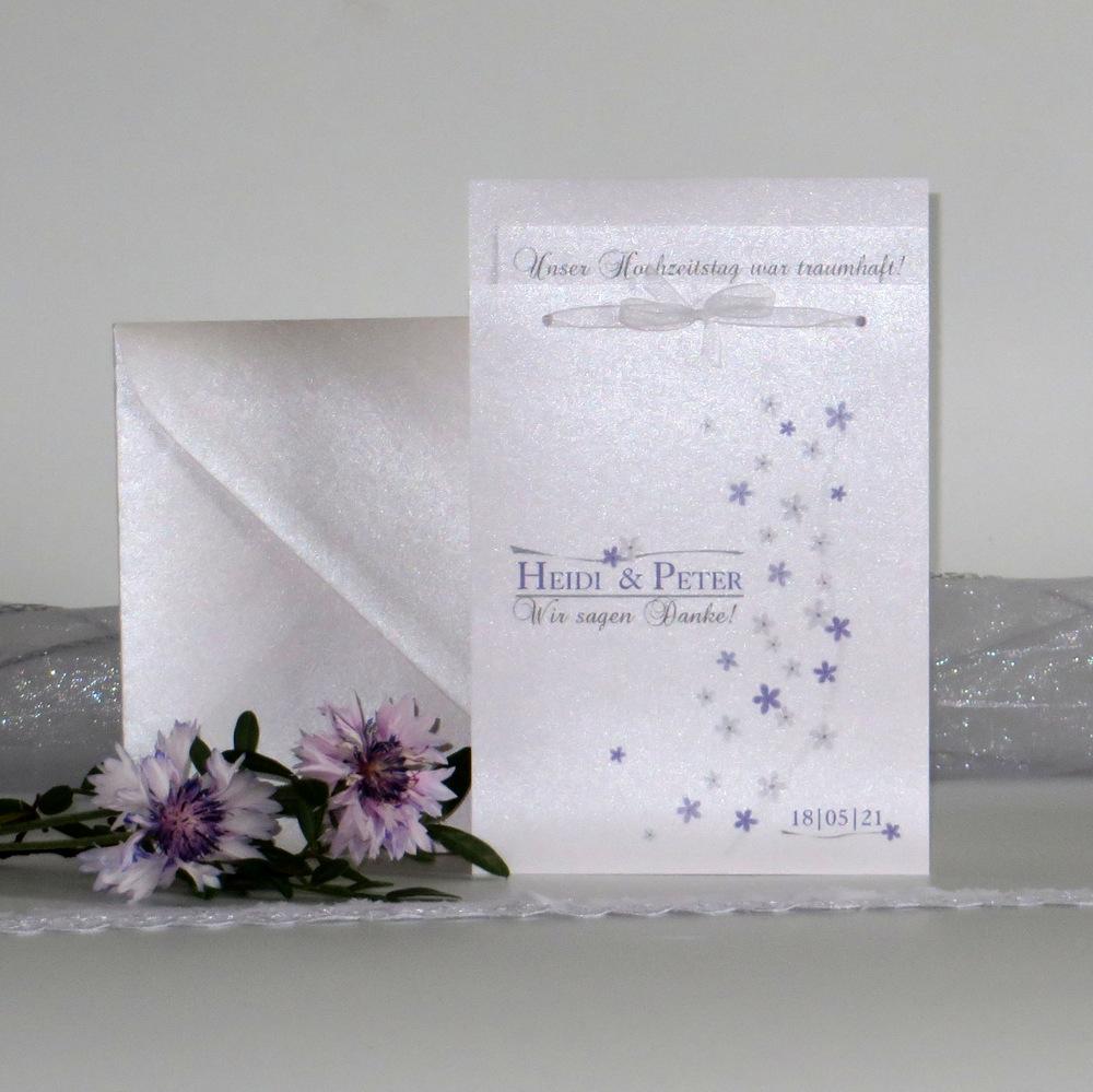 "Danksagung Fototasche ""Blumenmeer"" flieder"