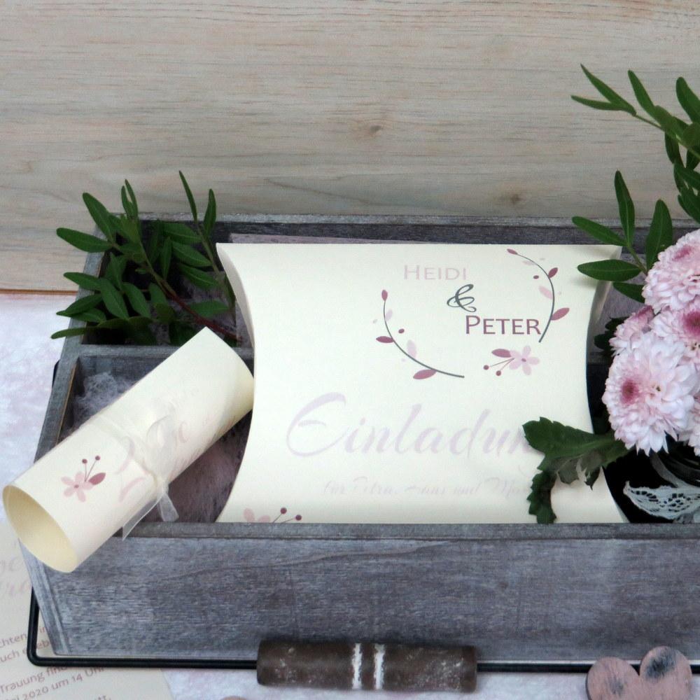 Hochzeitseinladung Amour rose