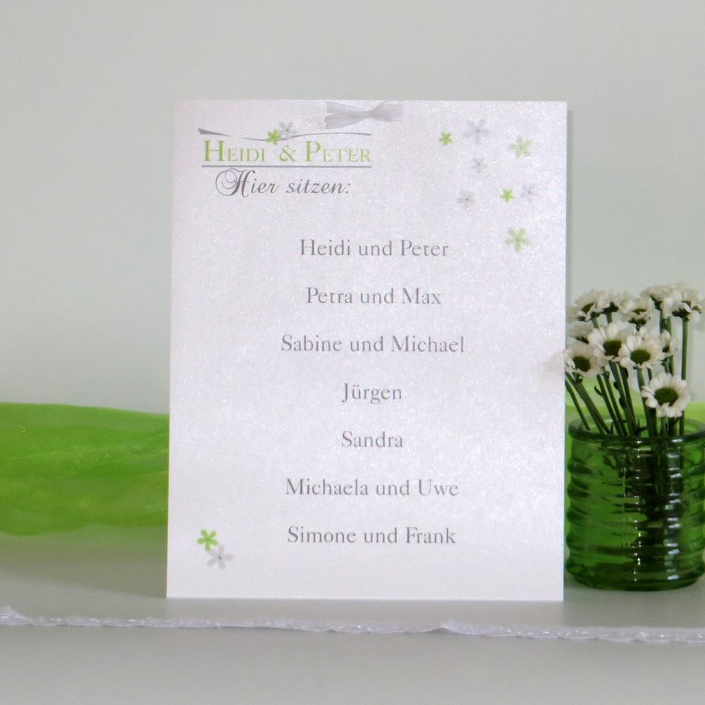 """Gruppentischkarte """"Blumenmeer"""" grün"""