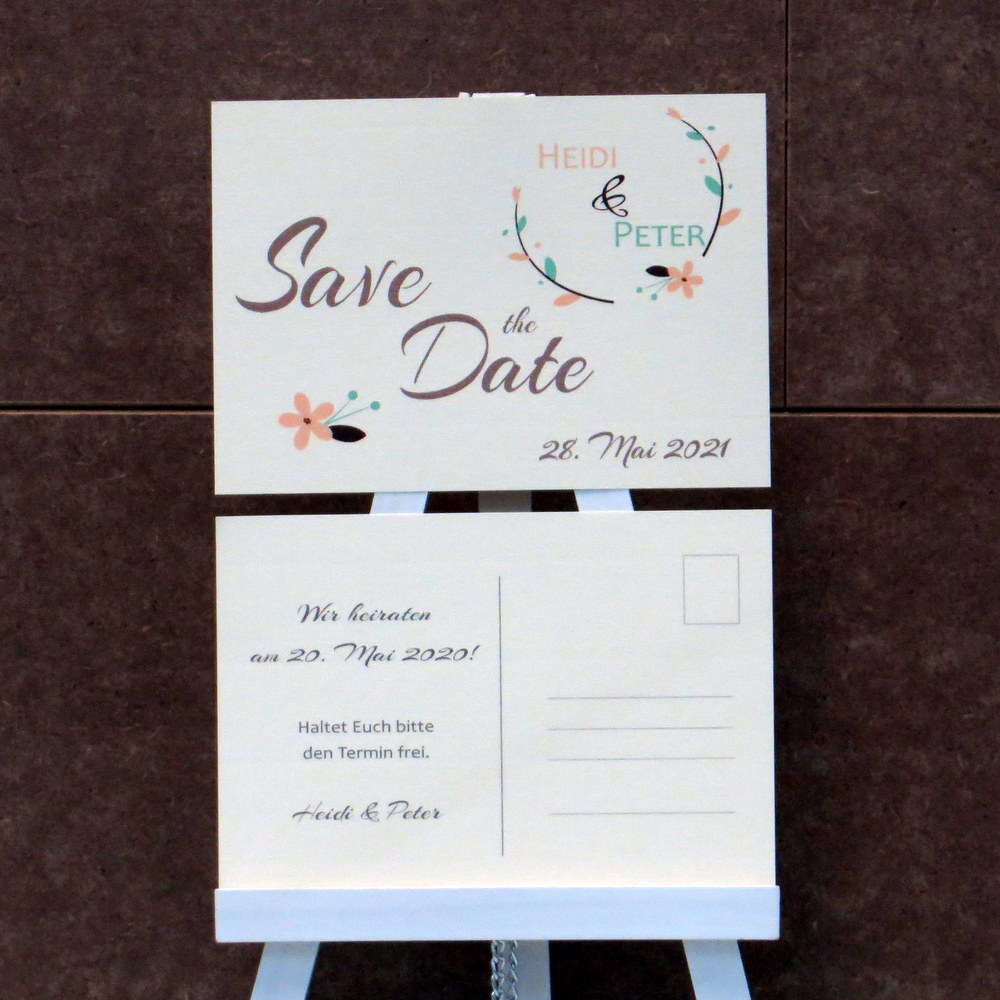 Save the Date Amour apricot