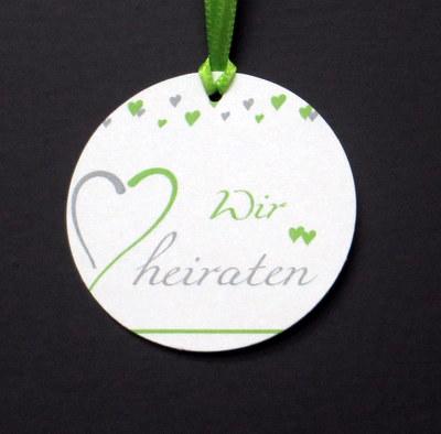 """Anhänger """"Herzblume"""" grün"""