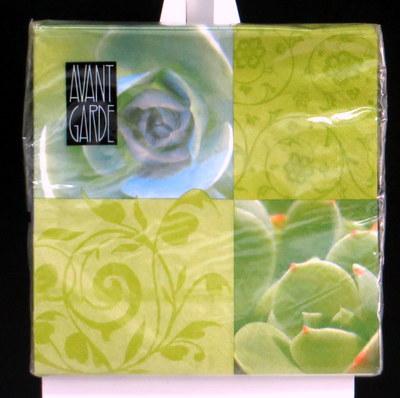 Servietten mit grünem Blumendruck