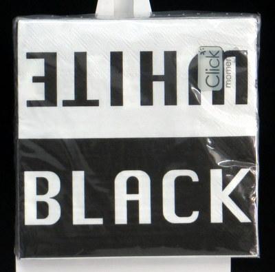 schwarz-weiße Servietten