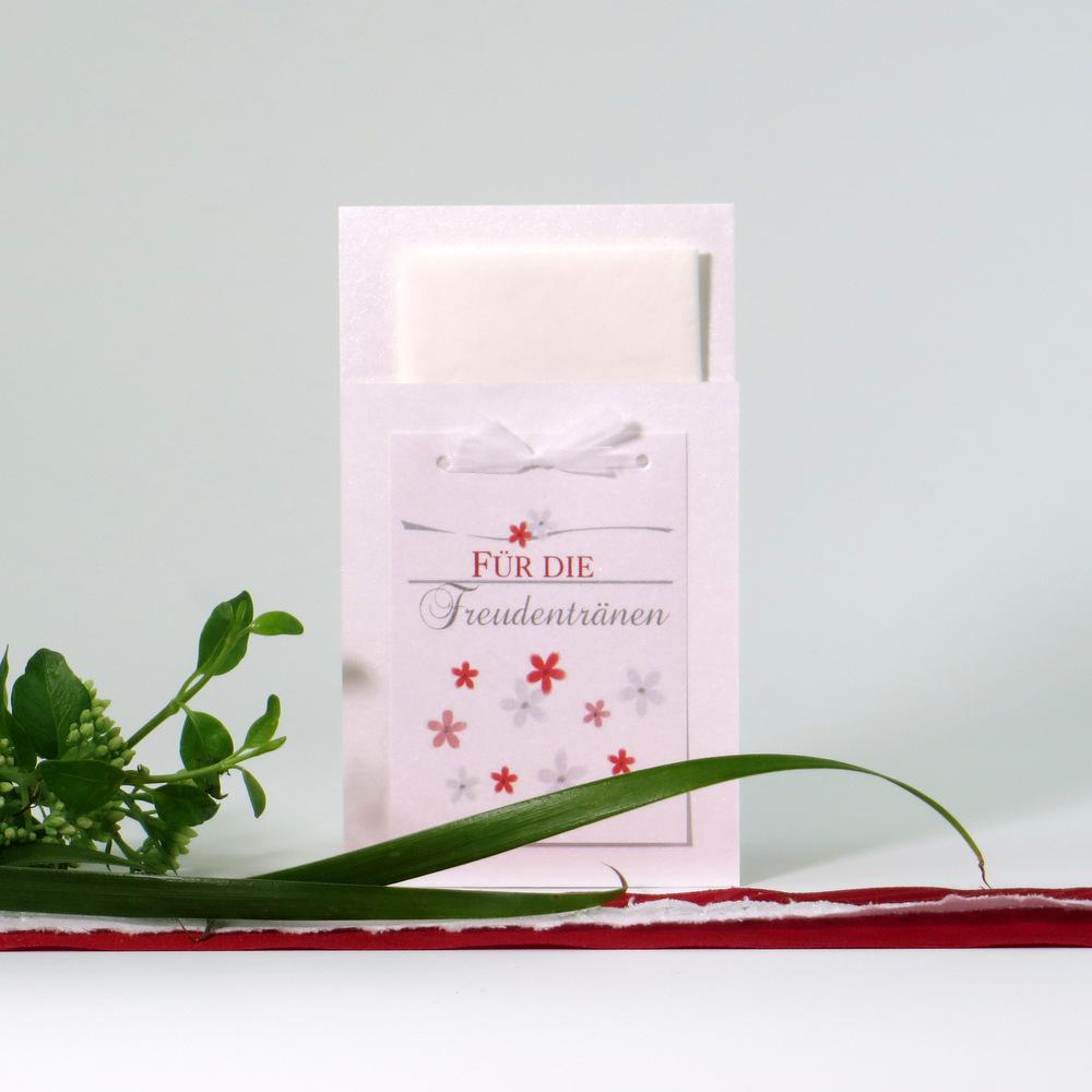 """Taschentuchtasche """"Blumenmeer"""" rot"""