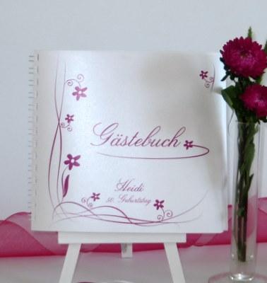 """Geburtstagsgästebuch """"Loop"""" pink"""