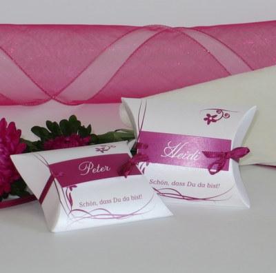 """Gastgeschenk & Tischkarte """"Loop"""" pink"""