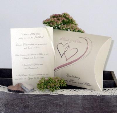 """Hochzeitseinladungsbox """"Harmonie"""" rosa"""