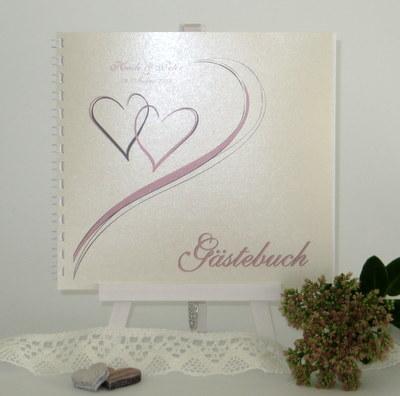 "Gästebuch ""Harmonie"" rosa"