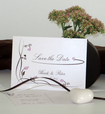 """Save the Date """"Loop"""" rosa"""