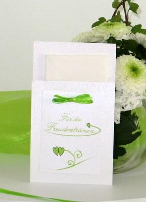 Taschentuchtasche mit Ranken in grün