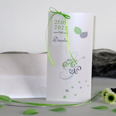 "Dankeskarte ""Blättertraum"" grün"
