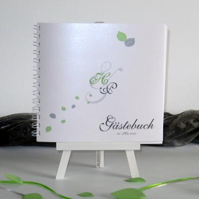 """Gästebuch """"Blättertraum"""" grün"""
