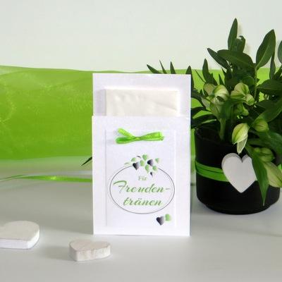 """Taschentuchtasche """"Herzblatt"""" grün"""