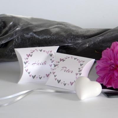 """Gastgeschenk Hochzeit """"Herzring"""" rosa"""