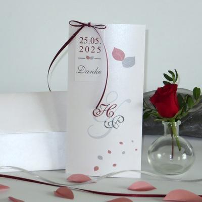 "Dankeskarte ""Blättertraum"" rot"