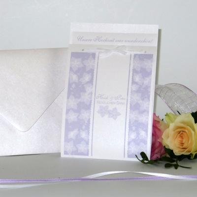 """Danksagung Fototasche """"Blütentraum"""" flieder"""
