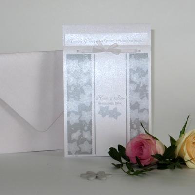 "Dankeskarte ""Blütentraum"" taupe"