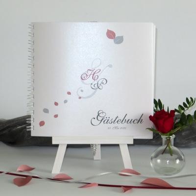 "Gästebuch ""Blättertraum"" rot"