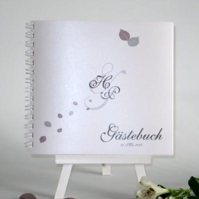 """Gästebuch """"Blättertraum"""" taupe"""
