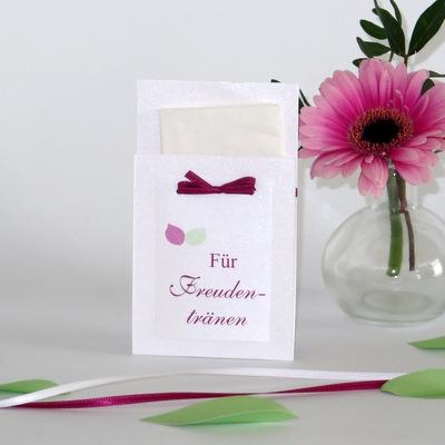 """Taschentuchtasche """"Blättertraum"""" pink & grün"""