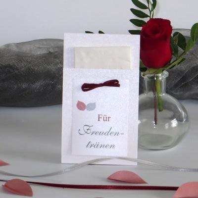 """Taschentuchtasche für Freudentränen """"Blättertraum"""" rot"""
