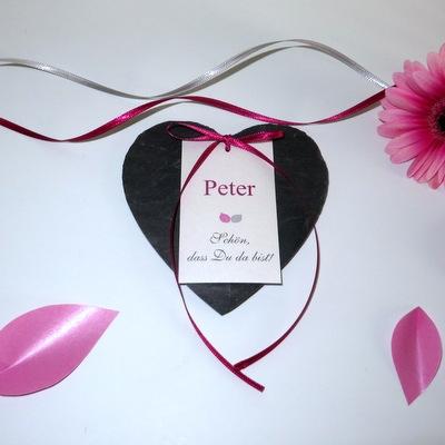 """Tischkarte """"Blättertraum"""" pink"""
