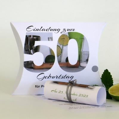"""Geburtstagseinladungsbox """"Cocktails"""""""