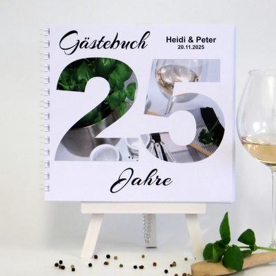 """Gästebuch zur Silberhochzeit """"Kochen"""""""