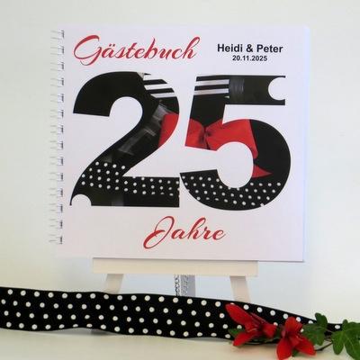 """Gästebuch zur Silberhochzeit """"Rockabilly"""""""