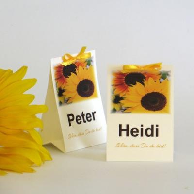 """Tischaufsteller """"Sonnenblume"""""""