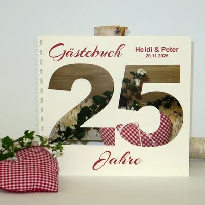 "Gästebuch zur Silberhochzeit ""Rustikal"""