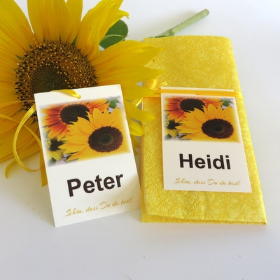 "Tischkarte ""Sonnenblume"""