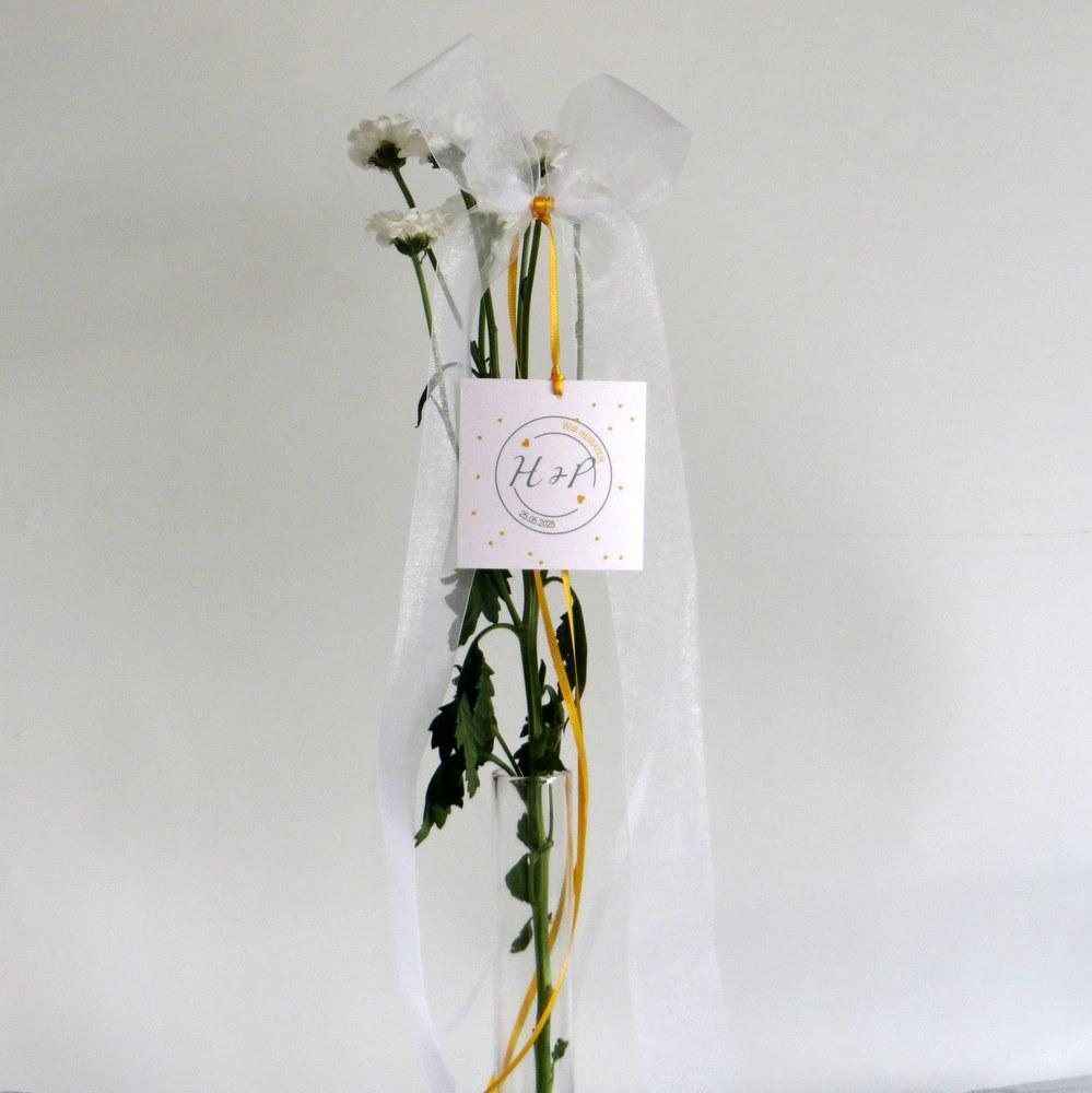 Hochzeitsschleife Konfetti in gelb