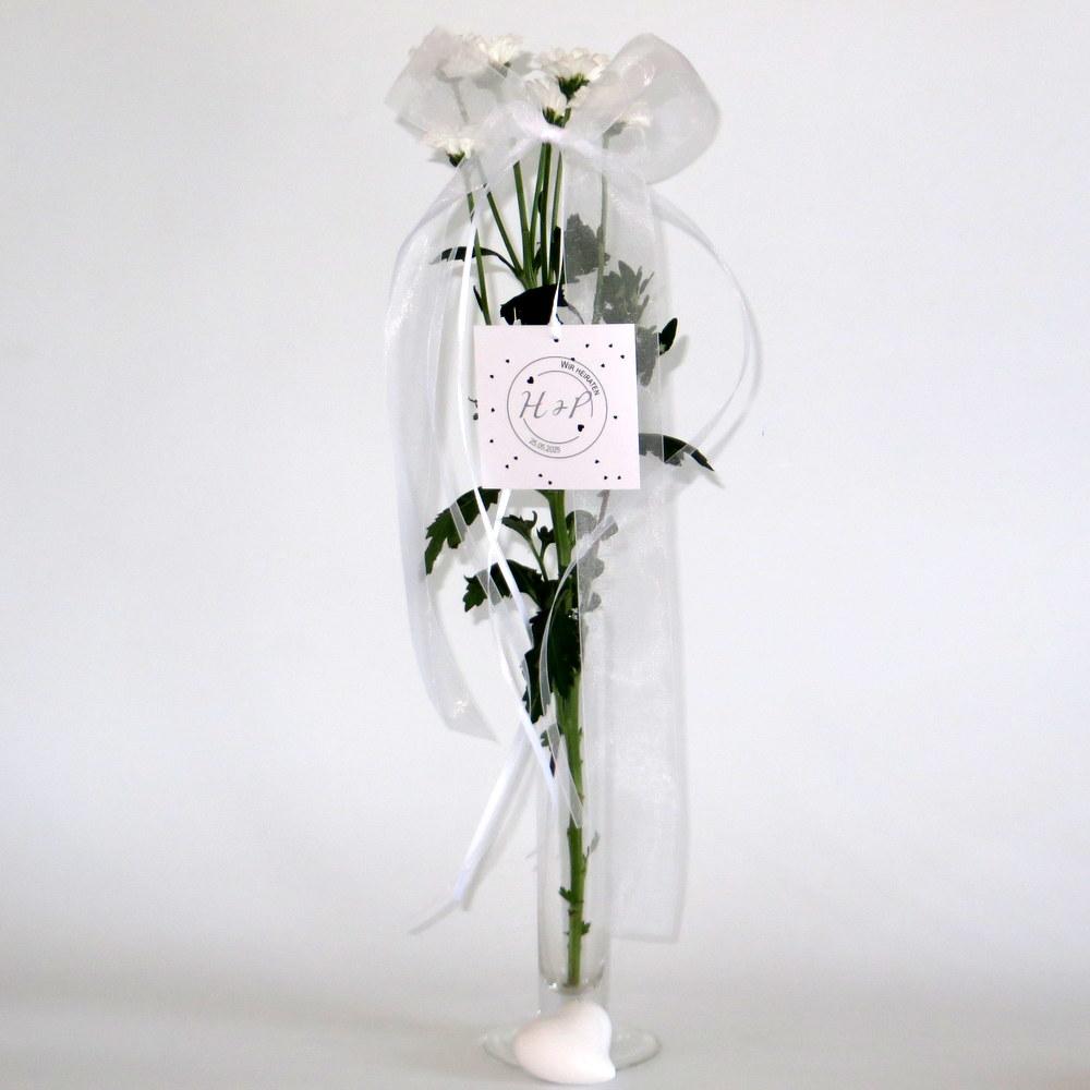 Hochzeitsschleife Konfetti in schwarz und weiß