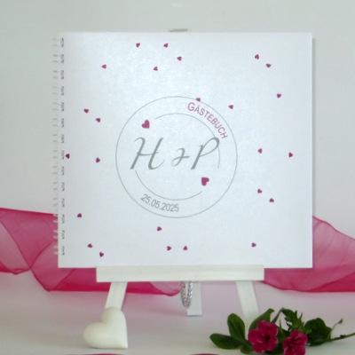 "Gästebuch ""Konfetti"" pink"