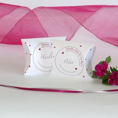 """Gastgeschenk & Tischkarte """"Konfetti"""" pink"""