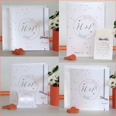 "Hochzeitskollektion ""Konfetti"" apricot"