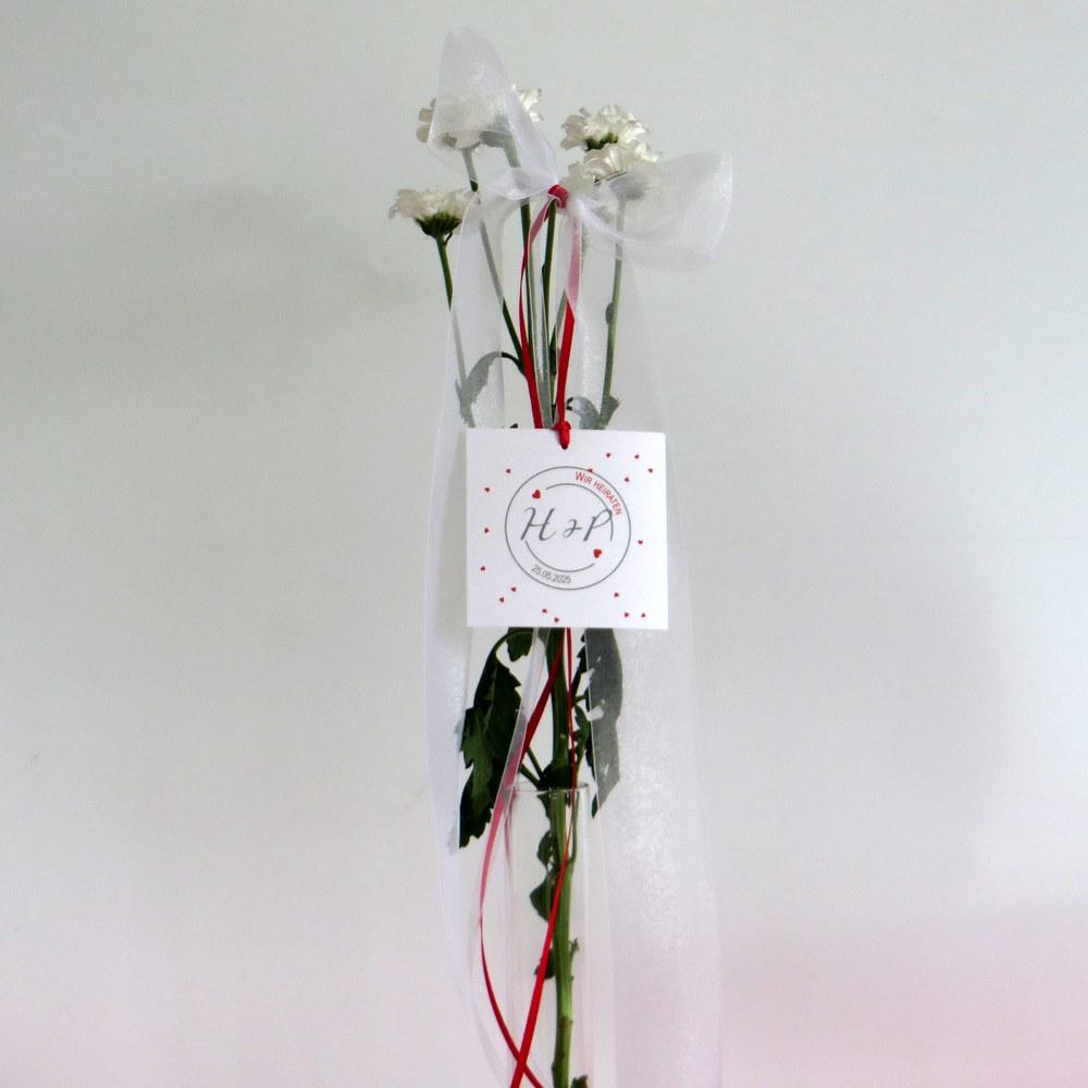 Hochzeitsschleife Konfetti in rot