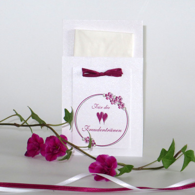 """Taschentuchtasche """"Blumenkranz"""" pink"""
