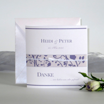 "Dankeskarte ""Florales Design"" flieder"