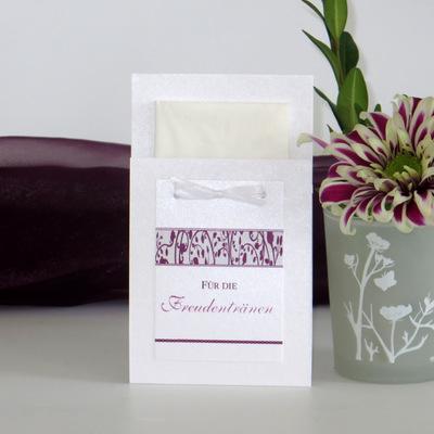 """Taschentuchtasche """"Florales Design"""" aubergine"""