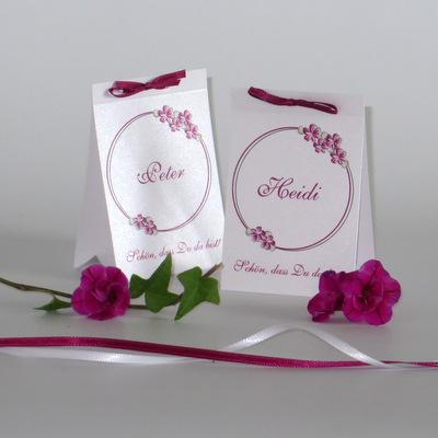 """Tischaufsteller """"Blumenkranz"""" pink"""