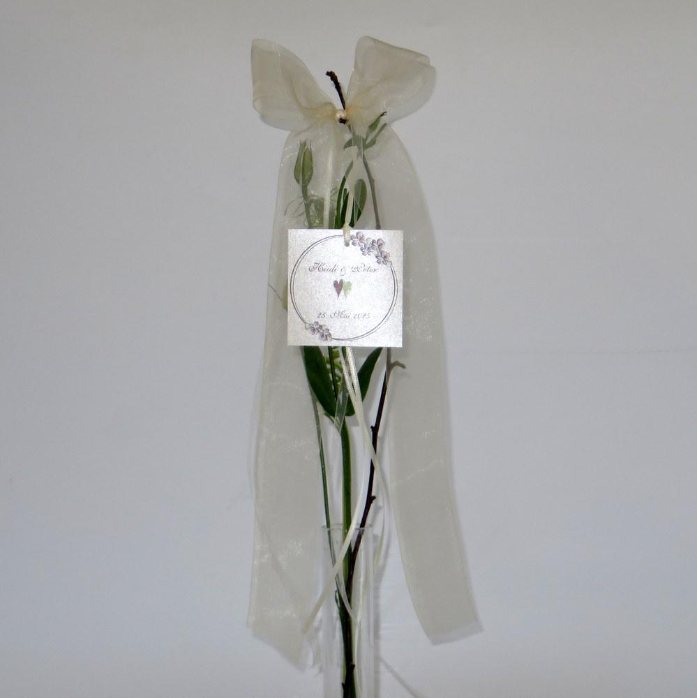 Antennenschleife Blumenkranz in braun